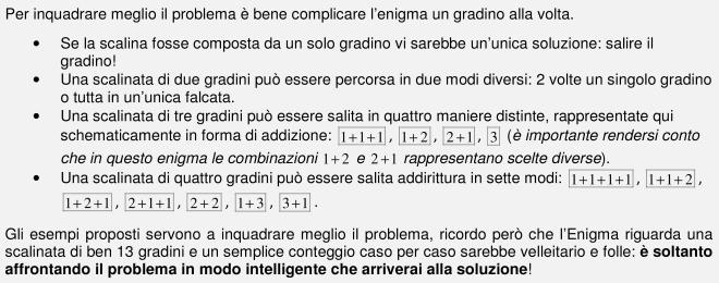 Microsoft Word - Enigma 8 (110116) sede centrale - LA SCALINATA
