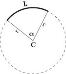 arco che insiste su un angolo